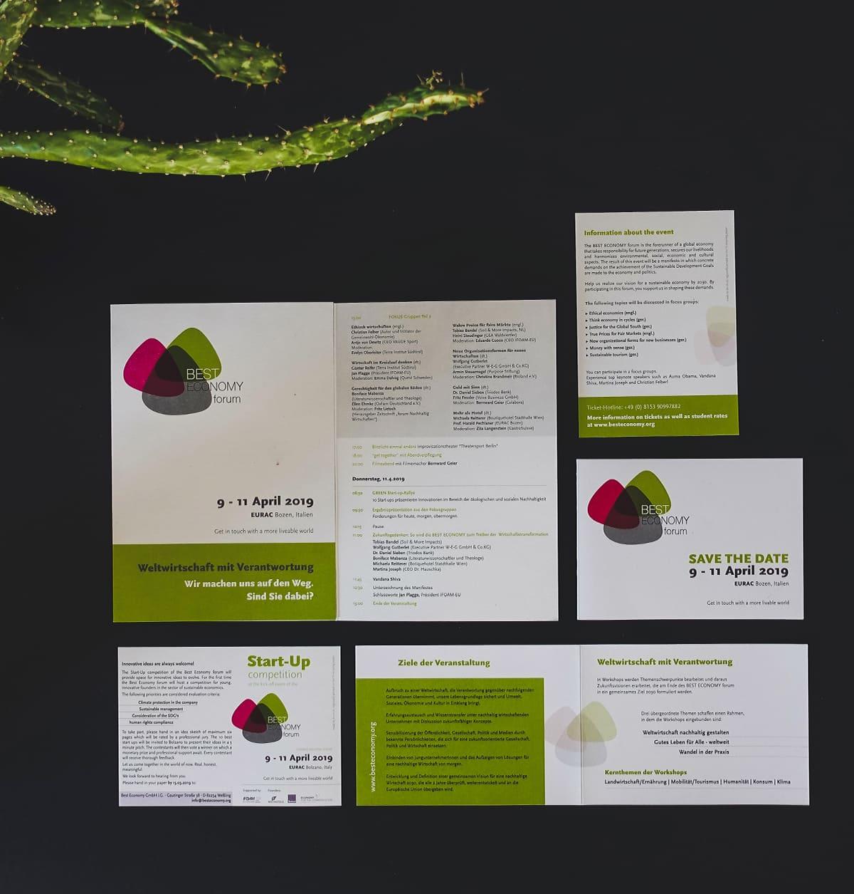 be-oh Marketing nachhaltige Agentur Grafikdesign Best economy forum