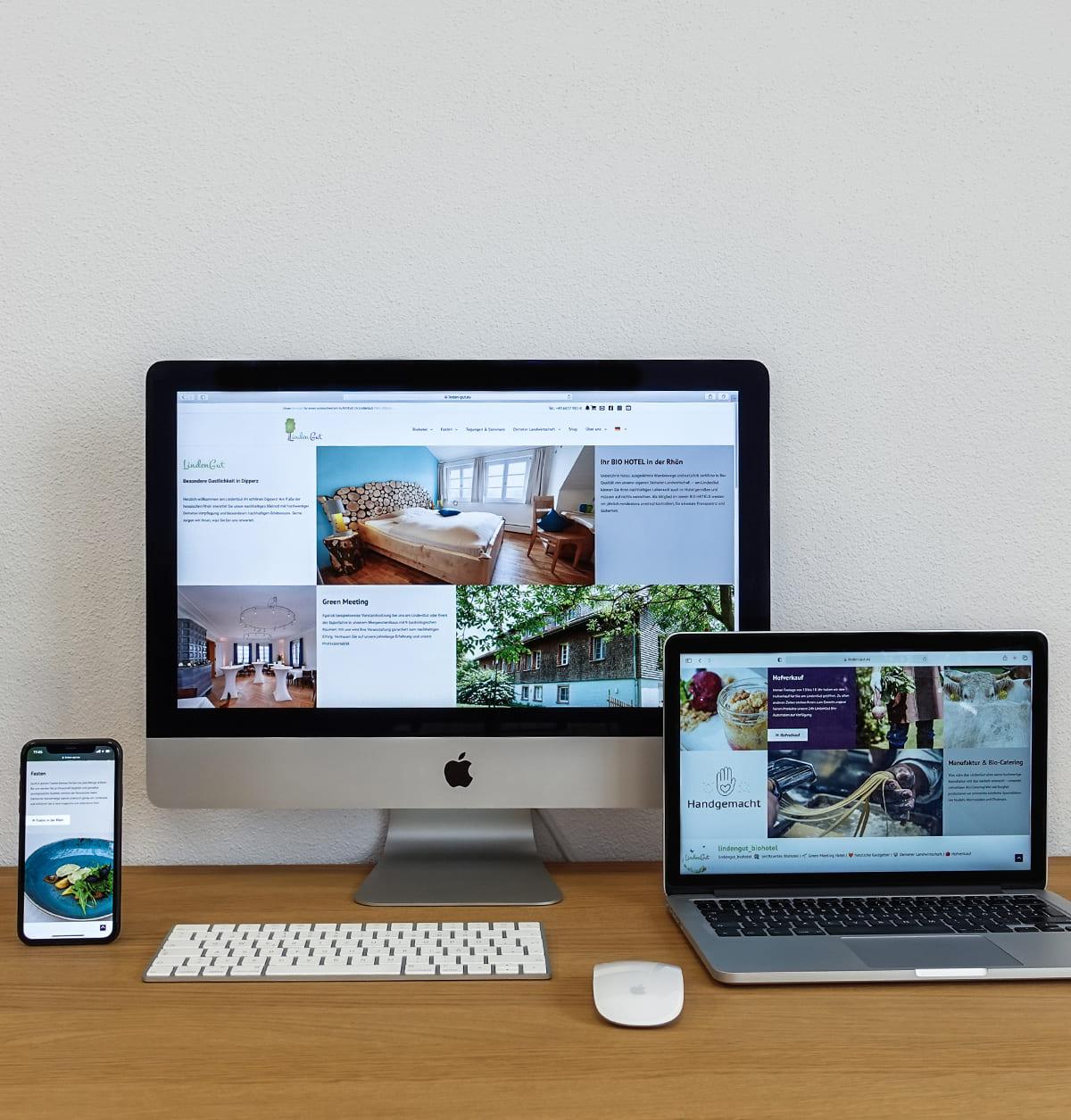 be-oh Marketing nachhaltige Agentur Website Lindengut